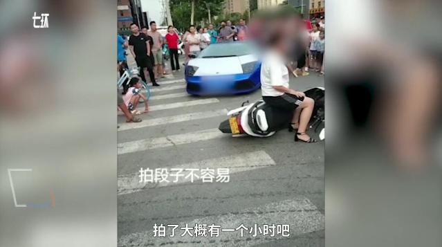 网红开兰博基尼拍撞人视频