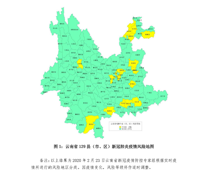 截至2月23日13时云南省129县(市、区)新冠肺炎疫情风险列表1.png