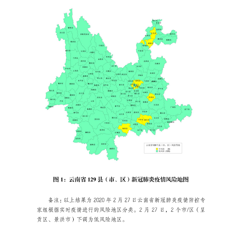 """【疫情快报】呈贡、景洪""""中""""转""""低"""",云南中风险县(市、区)降为9个1.png"""