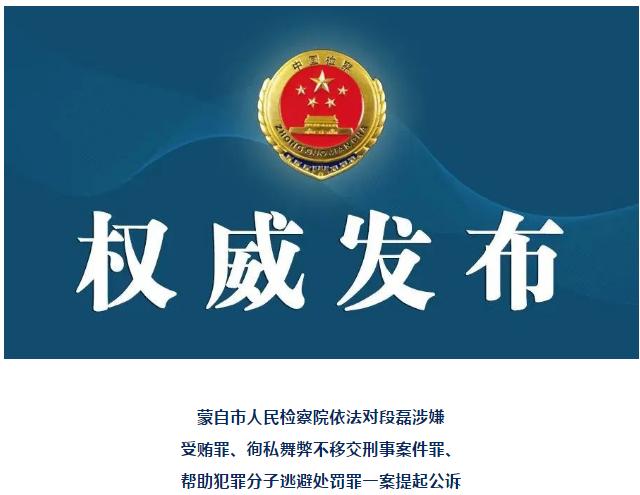 蒙自市公安局民警段磊被公诉.png