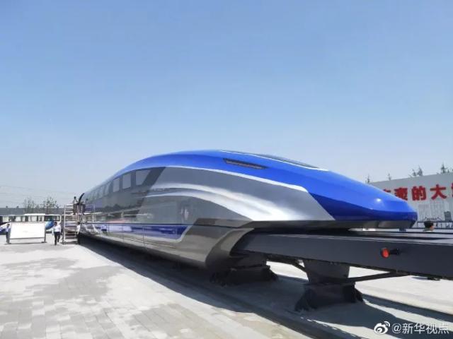 中国时速600公里高速磁浮试验样车在青岛下线.png