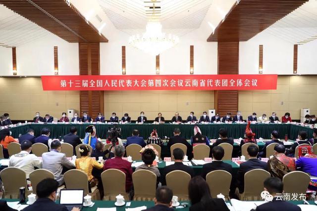 云南省代表团举行全体会议审议政府工作报告1.jpg