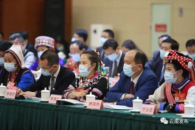 云南省代表团举行全体会议审议政府工作报告6.jpg