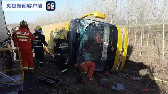 黑龙江海伦客车侧翻致7死8伤!调查结果:超速行驶操作不当