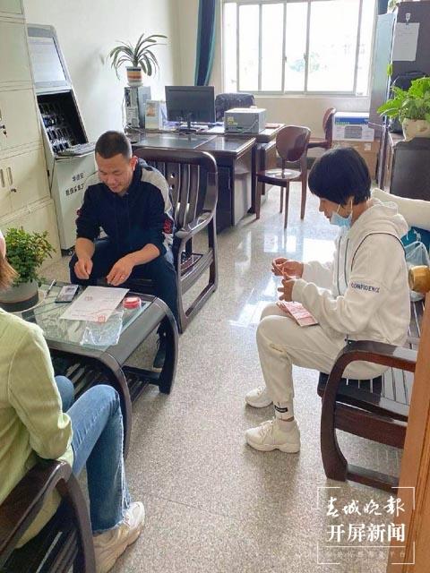六年级班级群收了6014元钱,被大理弥渡警方抓了 秦蒙琳 通讯员 闫云春 摄