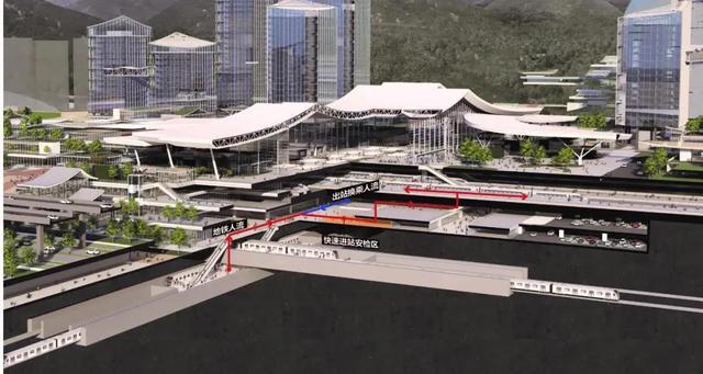 昆明铁路枢纽西客站建设最新进展请戳 图片由筑境设计供图