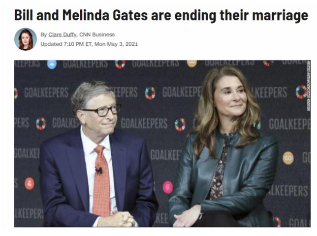 深夜突发!比尔·盖茨宣布与妻子离婚!1300亿美元财富怎么分?