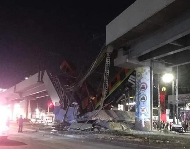 墨西哥一地铁发生垮塌事故,已致20人死亡