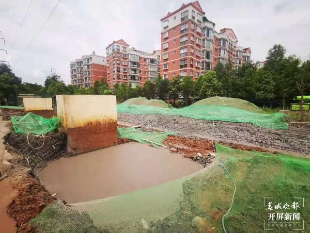 昆明市首次采用生态滤池进行调蓄池除臭(春城晚报-开屏新闻记者 张勇 摄)