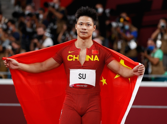 ▲8月1日,苏炳添在比赛后。新华社记者 王丽莉 摄